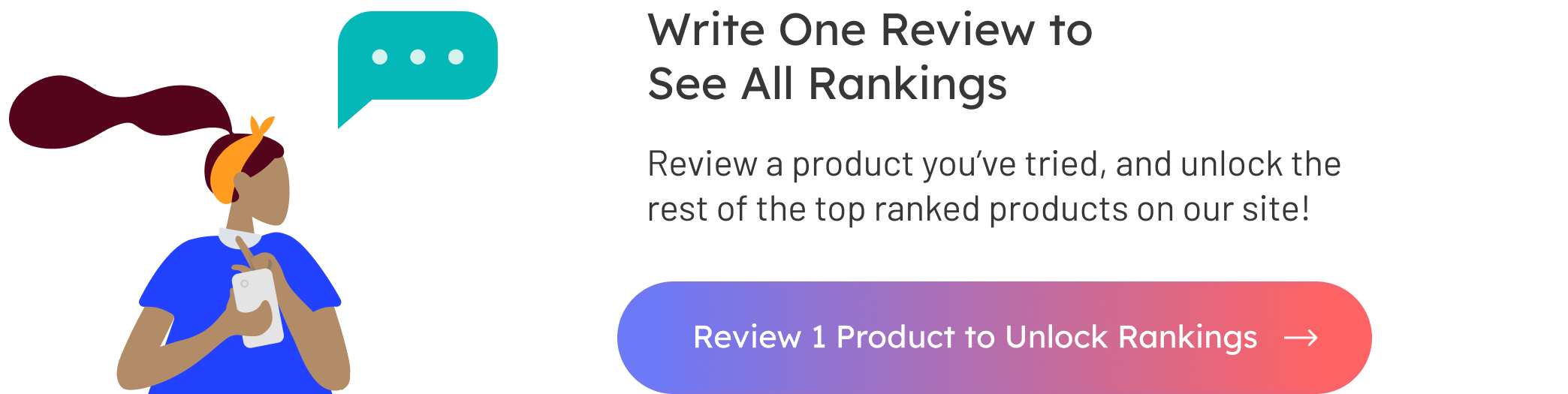 Write One Review to See All Rankings